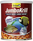 Tetra JumboKrill Freeze-Dried Jumbo Shrimp 3.5 Ounces, Natural Shrimp Treat For aquarium Fish, red (16198)