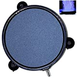 AquaticHI Large Round Disc Air Stone/Diffuser for Oxygenation in Fresh/Saltwater Tanks, Ponds, Hydroponic, Aquaponics, and as a Decorative Airstone for Aquariums (4.25 inch)