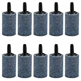 Pawfly 10 PCS Air Stone Cylinder 1.2 Inches Bubble Diffuser Airstones for Aquarium Fish Tank Pump