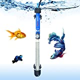 SALUTE Aquarium Heater Submersible Auto Thermostat Heater, (50W/100W/200W/300W) Fish Tank Heater and Adjustable Temperature with 2 Suction Cups Suitable for 10-115 Gallon Fish Tank