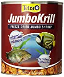Tetra JumboKrill Freeze-Dried Jumbo Shrimp 14 Ounces, Natural Shrimp Treat For aquarium Fish, red (16200)